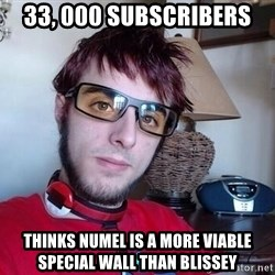 Verlisify - 33, 000 subscribers thinks numel is a more viable special wall than blissey