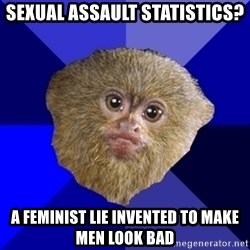 MRA Marmoset - sexual assault statistics? a feminist lie invented to make men look bad