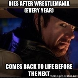 The Undertaker - DIES AFTER WRESTLEMANIA(EVERY YEAR) COMES BACK TO LIFE BEFORE THE NEXT