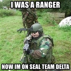 Fat Airsoft Kid - I was a Ranger Now im on seal team delta
