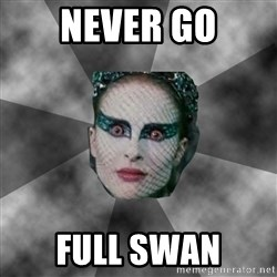 Black Swan Eyes - NEVER go full swan