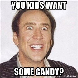 Creepy Smiling Cage  - you kids want  some candy?