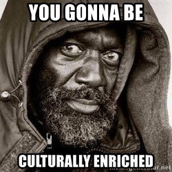 You Gonna Get Raped - you gonna be culturally enriched