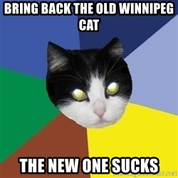 Winnipeg Cat - Bring back the old Winnipeg cat The new one sucks