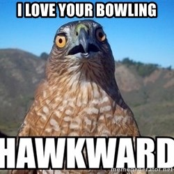 oops hawkward - I love your bowling