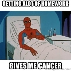SpiderMan Cancer - GETTING ALOT OF HOMEWORK GIVES ME CANCER