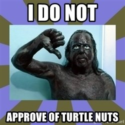 WANNABE BLACK MAN - I do not Approve of turtle nuts
