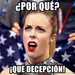 Ashley Wagner Shocker - ¿por qué? ¡que decepción!