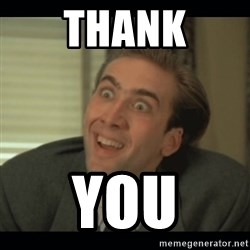 Nick Cage - Thank YOU