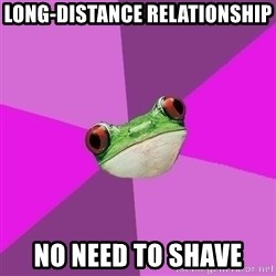 Foul Bachelorette Frog - long-distance relationship no need to shave