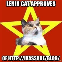 Lenin Cat Red - Lenin cat approves of http://ivassure/blog/