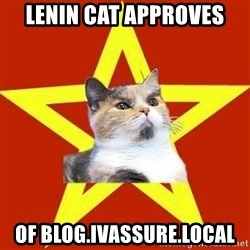 Lenin Cat Red - LENIN CAT APPROVES OF BLOG.IVASSURE.LOCAL