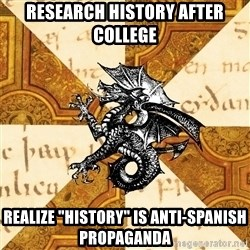 """History Major Heraldic Beast - RESEARCH HISTORY AFTER COLLEGE REALIZE """"HISTORY"""" IS ANTI-SPANISH PROPAGANDA"""