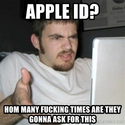 gross she is all naked and shit guy - apple id? hom many fucking times are they gonna ask for this