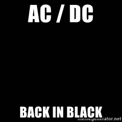 black background - AC / DC back in black