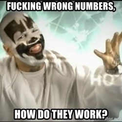 Insane Clown Posse - Fucking wrong numbers, How do they work?