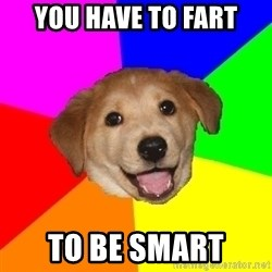 Advice Dog - you have to fart to be smart
