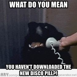 Hello This is Dog - WHAT DO YOU MEAN YOU HAVEN'T DOWNLOADED THE NEW DISCO PILL?!