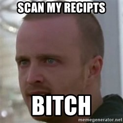 Breaking Bad Jesse Pinkman Bitch! - SCAN MY RECIPTS BITCH