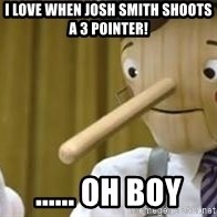 Pinocchio Potential - i love when josh smith shoots a 3 pointer! ...... oh boy