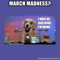 I don't know what i'm doing! dog - MARCH MADNESS?