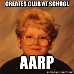 60 Year-Old Girl - creates club at school aarp
