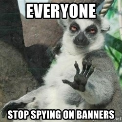 Not Today Lemur - everyone stop spying on banners