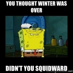 didnt you squidward - YOU THOUGHT WINTER WAS OVER DIDN'T YOU SQUIDWARD