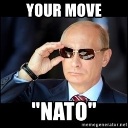 "Badass Vladimir Putin - your move ""nato"""