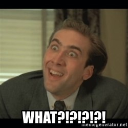 Nick Cage -  what?!?!?!?!