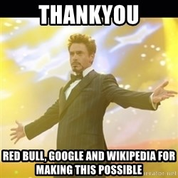 Tony Stark Expo - thankyou red bull, google and wikipedia for making this possible