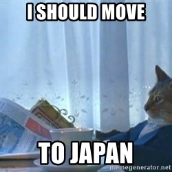 Sophisticated Cat - I SHOULD MOVE TO JAPAN