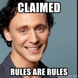 Nice Guy Tom Hiddleston - CLAIMED Rules are rules