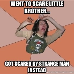 Scared Bekett - Went to scare little brother... Got scared by strange man instead
