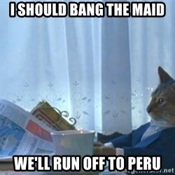 Sophisticated Cat - i should bang the maid we'll run off to peru