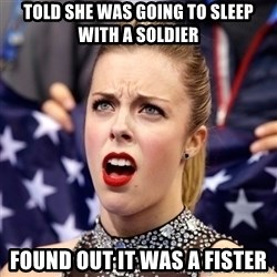 Ashley Wagner Shocker - told she was going to sleep with a soldier found out it was a fister