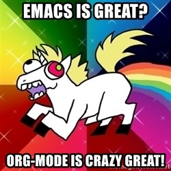 Lovely Derpy RP Unicorn - EMACS IS GREAT? ORG-MODE IS CRAZY GREAT!