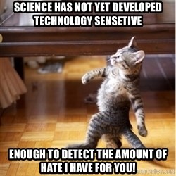 haters gonna hate cat - science has not yet developed technology sensetive enough to detect the amount of hate I have for you!