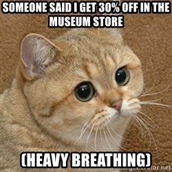 motherfucking game cat - Someone said I get 30% off in the museum store (heavy breathing)
