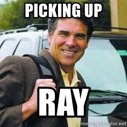 Rick Perry - picking up ray