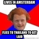 Dutch mongoloid - Lives in amsterdam flies to thailand to get laid