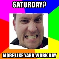 Asshole Father - Saturday? more like yard work day