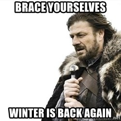 brace yourselves boromir - Brace yourselves winter is back again