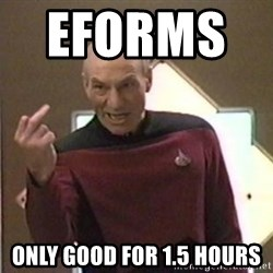 Picard Finger - Eforms        Only good for 1.5 hours