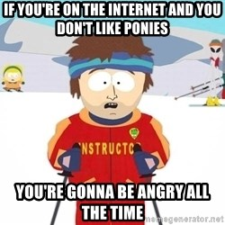 You're gonna have a bad time - If you're on the internet and you don't like ponies You're gonna be angry all the time