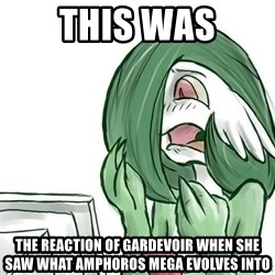 Pokemon Reaction - THIS WAS The reaction of Gardevoir when she saw what Amphoros Mega Evolves into