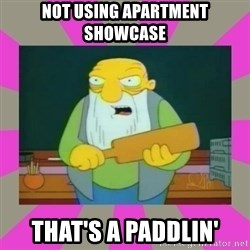 hay tabla - Not using apartment showcase that's a paddlin'