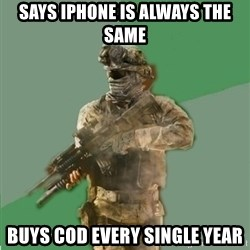 philosoraptor call of duty - Says iphone is always the same buys cod every single year