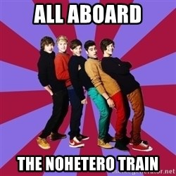 typical 1D - All aboard The nohetero train