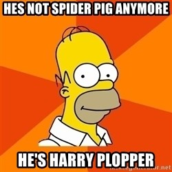 Homer Advice - hes not spider pig anymore he's harry plopper